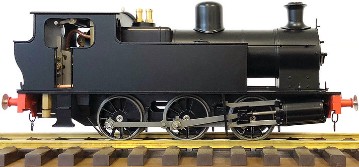 "S32-14C KS ""Victory"" 0-6-0T - Black (Twin Safety Valves), Live Steam"