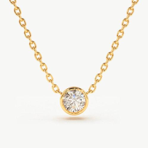 BRILLIANT DIAMOND SOLITAIRE NECKLACE