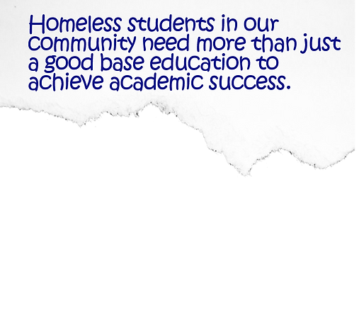 Scrap Paper with Text-Homeless Students.