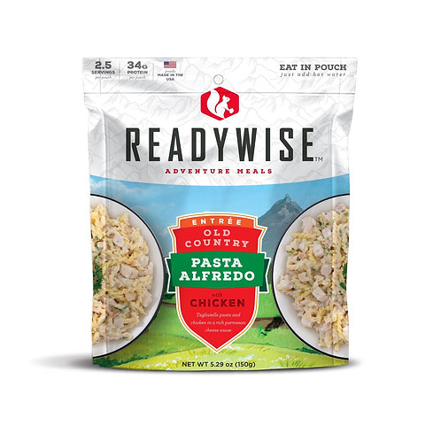 READYWISE OLD COUNTRY PASTA ALFREDO W CHICKEN 2.5 SERVINGS