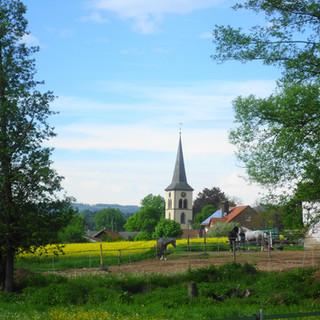 Schwarzach mit Kirche