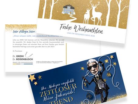 Individuell für Sie gestaltete Weihnachtskarten