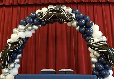 fancy balloon arches for detroit banquet