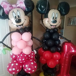 mickey and minnie mouse balloon structur