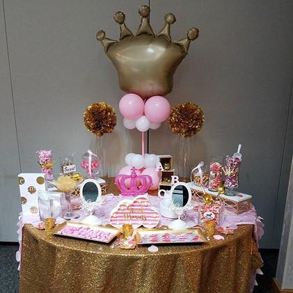 balloon decor for detroit baby shower.jp
