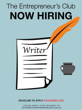 Now Hiring: Writer