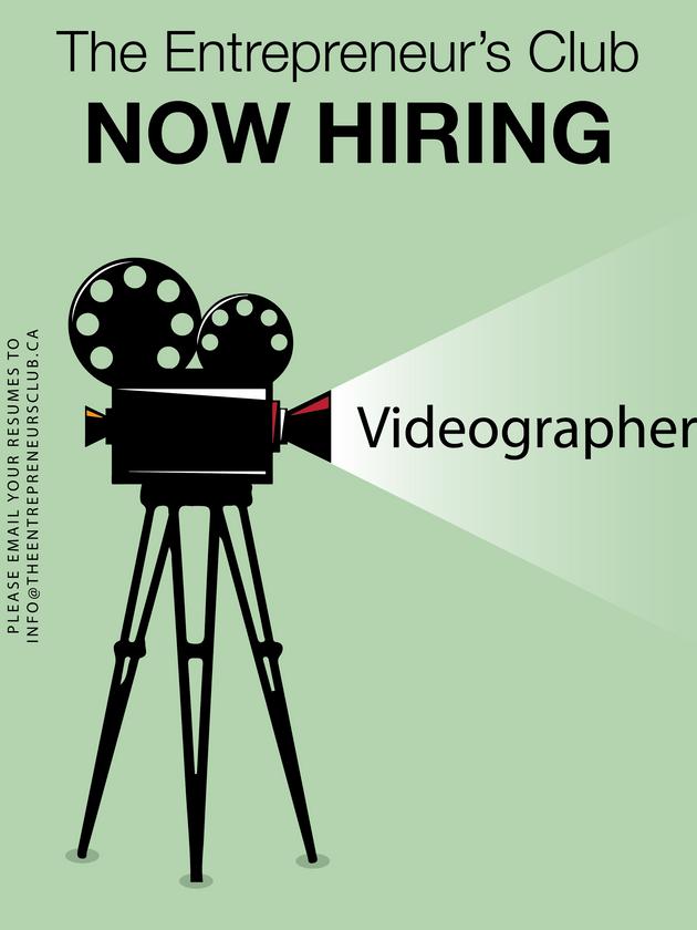 Now Hiring: Videographer