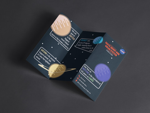 Solar System Facts Brochure: Front