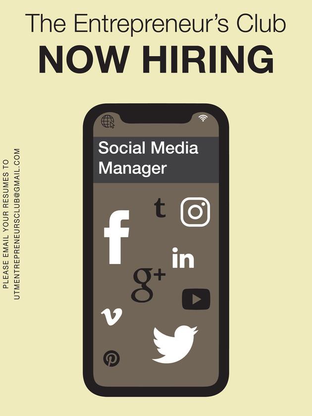 Now Hiring: Social Media Manager