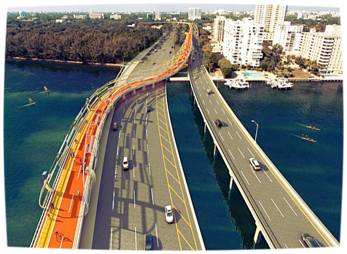South Florida Proposes New Bike Bridge Connecting Miami to Key Biscayne.
