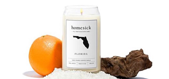 Florida Home Sick Scented Candles Now on Sale Across the United States.