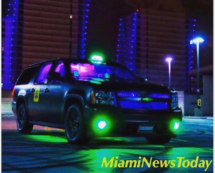 Florida Man Transforms SUV Into Miami's Most Iconic Uber.