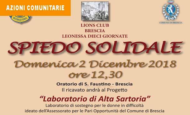 02/12/18 - SPIEDO SOLIDALE