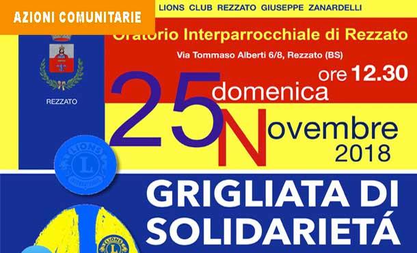 25/11/18 - GRIGLIATA DI SOLIDARIETA'