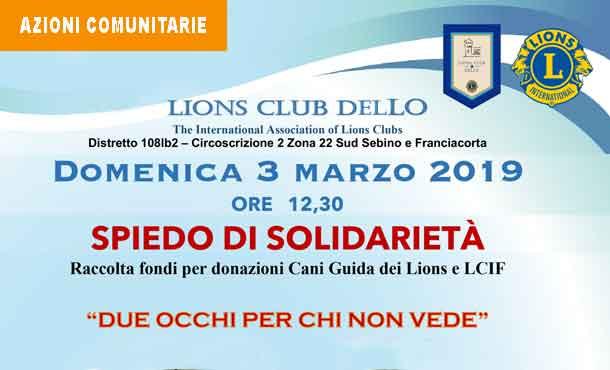 03/03/19 - SPIEDO DI SOLIDARIETA'