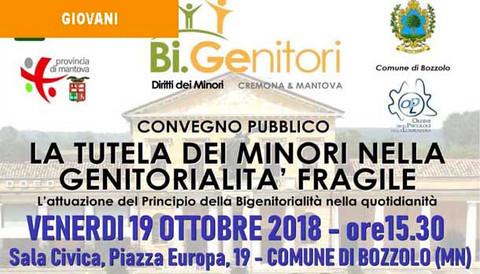 19/10/18 - LA TUTELA DEI MINORI NELLA GENITORIALITA' FRAGILE