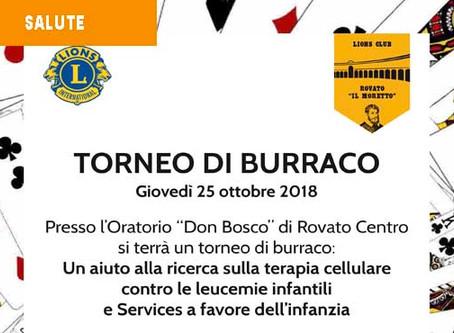 25/10/18 - TORNEO BURRACO BENEFICO