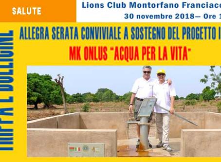 30/11/18 - TRIPPA E BOLLICINE PER MK ONLUS