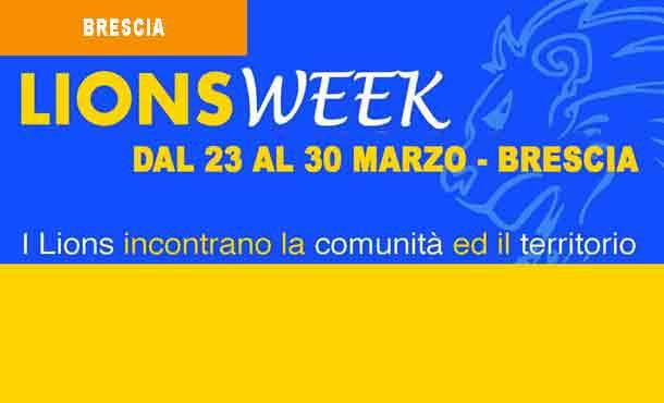 23-30/03/19 - LIONS WEEK BRESCIA