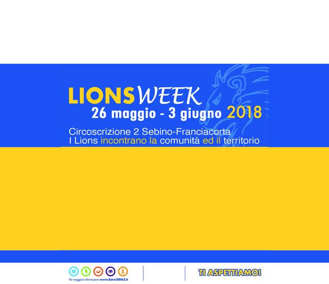 26/05/18-LIONS WEEK Sebino-Franciacorta