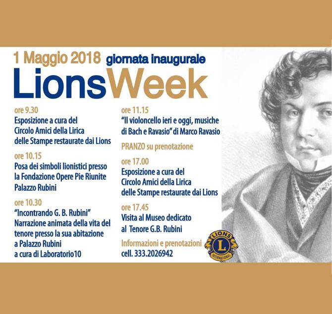 1/05/18 - LIONS WEEK a Romano di Lombardia