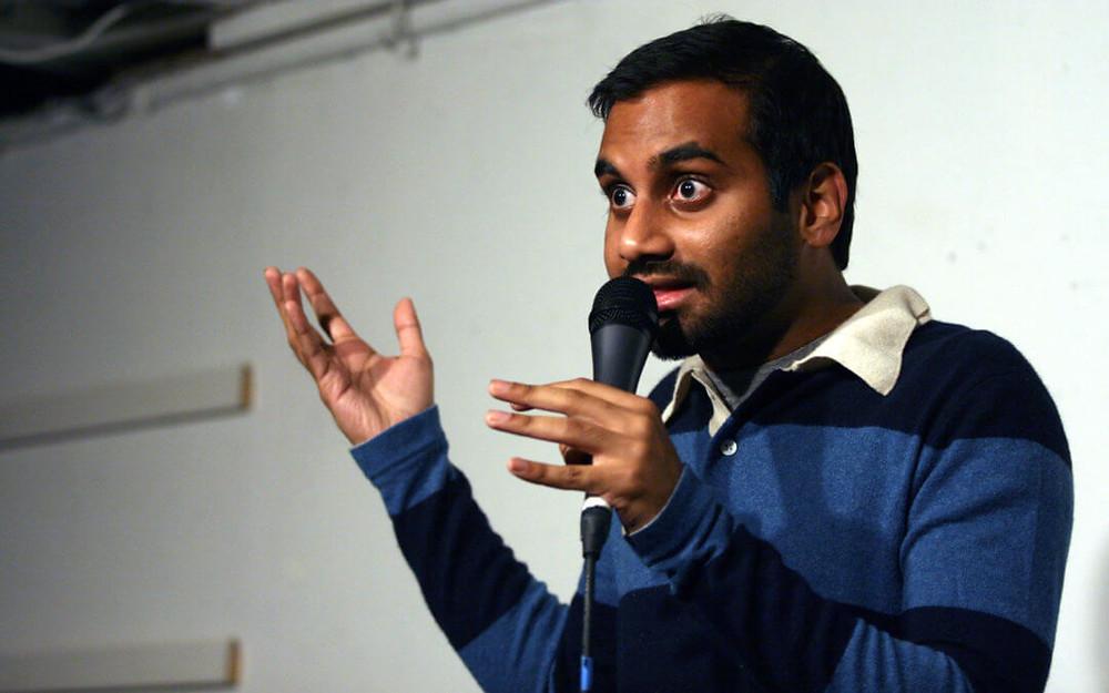 Aziz Ansari doing stand-up