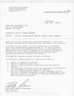 Lockheed Welding Certification