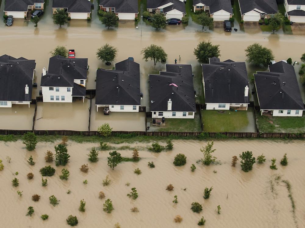 Houston flooded by Hurricane Harvey