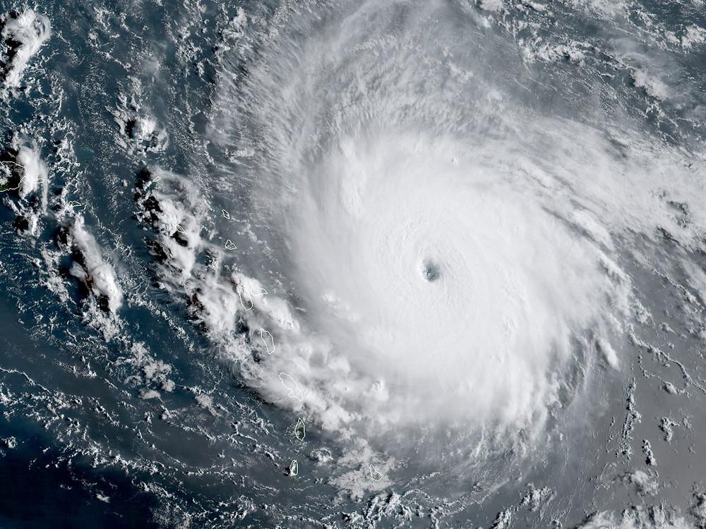 Hurricane Irma over Florida