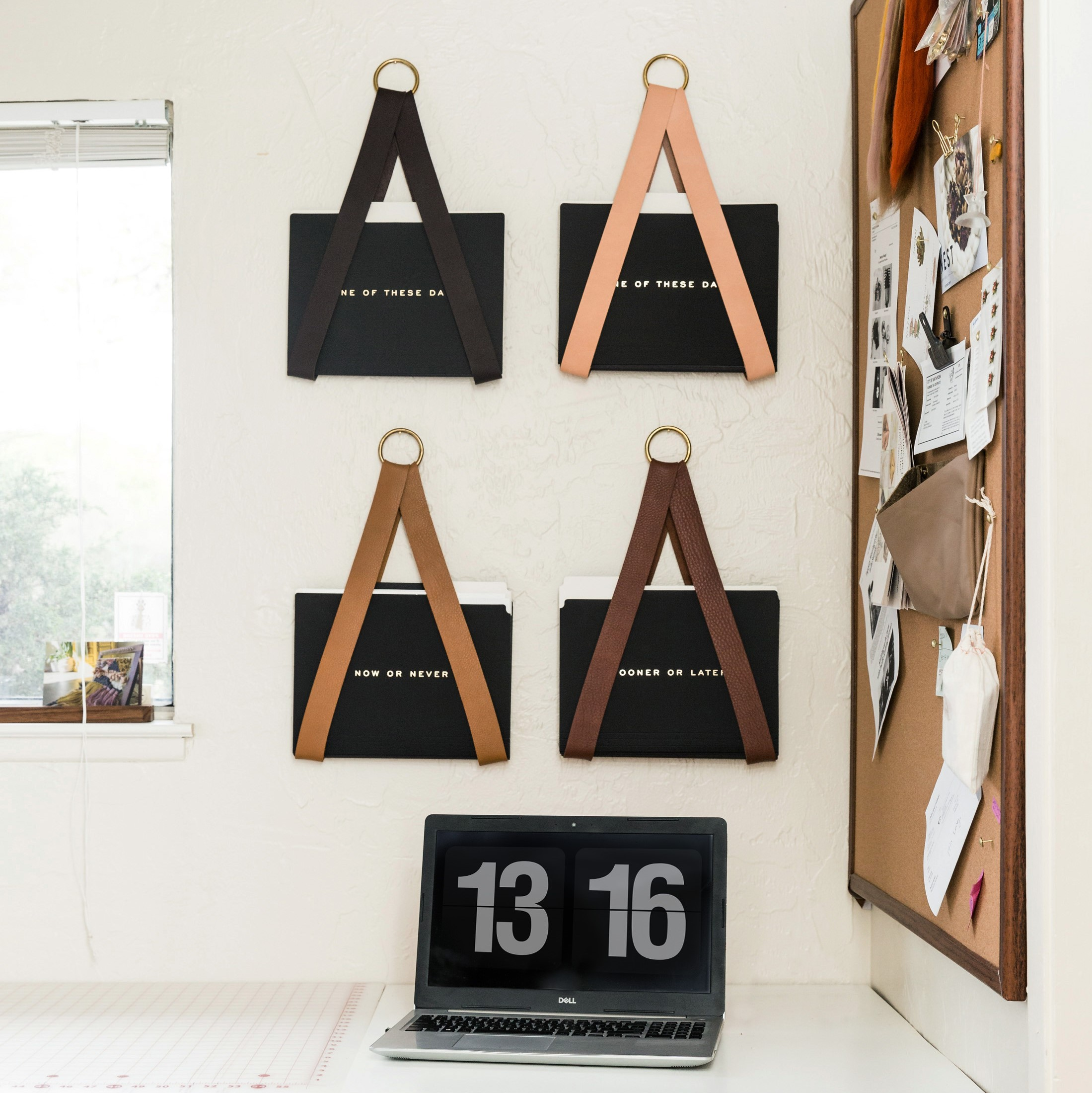 leather file holders