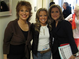 Jana Anderson singing with Jewel, backstage at The View with Joy Behar and Meredith Veiera. Barbara Walters producer took the photo with my camera. They were humble and so kind.
