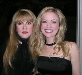 Jana Anderson with Stevie Nicks before her concert
