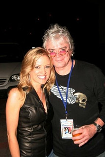 Jana Anderson with Russell Hitchcock, the lead singer in Air Supply, after her country band show and his awesome pep talk