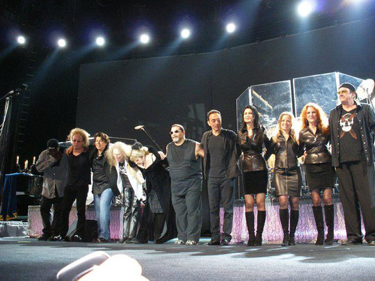 Jana Anderson as Stevie Nick's background vocalist at their final bow from a show