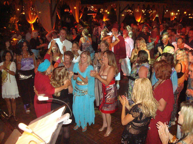 """Jana Anderson at one of her favorite fundraisers she did about 8 times in Santa Barbara called """"The Zoofari Ball"""". Thank you Nancy. I love you for all the great memories"""