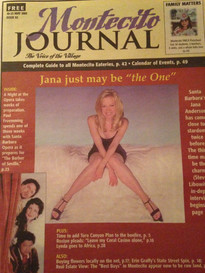 Jana Anderson on the cover of the Montecito Journal and a 5 page article on her life