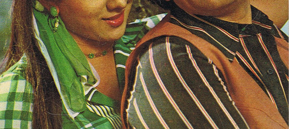 Bindiya Goswami and Shashi Kapoor