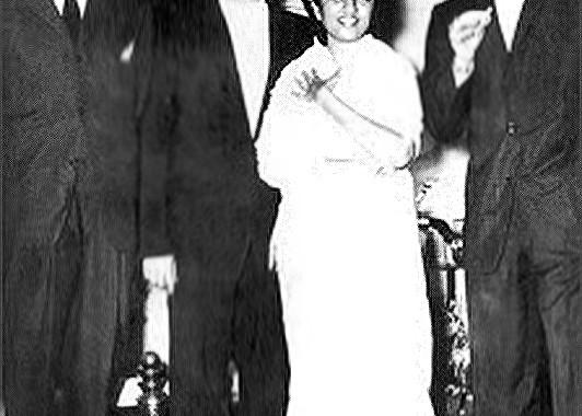 Dev Anand, Raj Kapoor, Lata Mangeshkar and Dilip Kumar