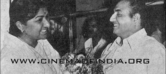 Lata Mangeshkar and Mohammed Rafi