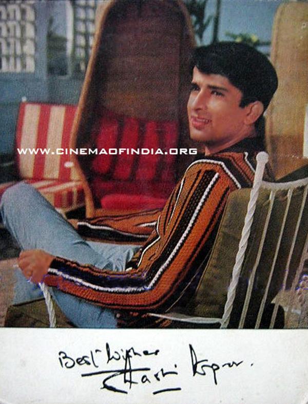 Shashi Kapoor autographed photo