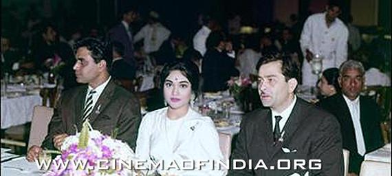 Rajendra Kumar, Vyajayanthimala and Raj Kapoor