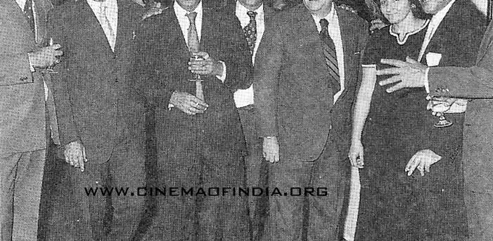 Dilip Kumar, Pran Sikand and Raj Kapoor