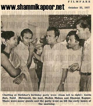 Shammi Kapoor in Filmfare - October 25, 1957