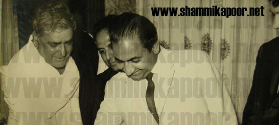 Prithviraj Kapoor and Mohammed Rafi