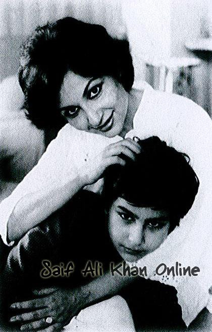 Sharmila Tagore and young Saif Ali Khan
