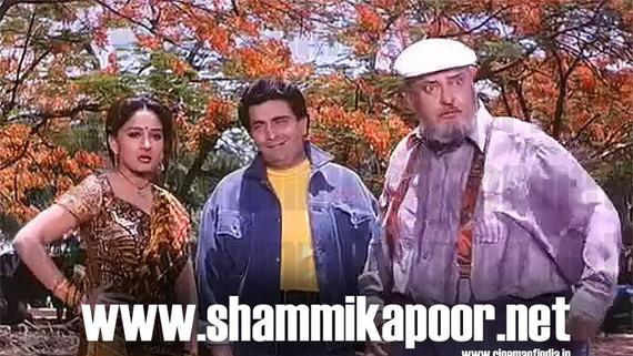 Madhuri Dixit, Rishi Kapoor and Shammi Kapoor