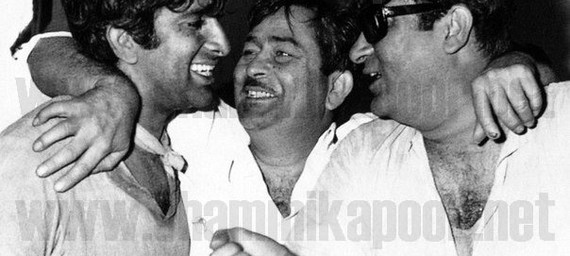 Shashi Kapoor, Raj Kapoor and Shammi Kapoor