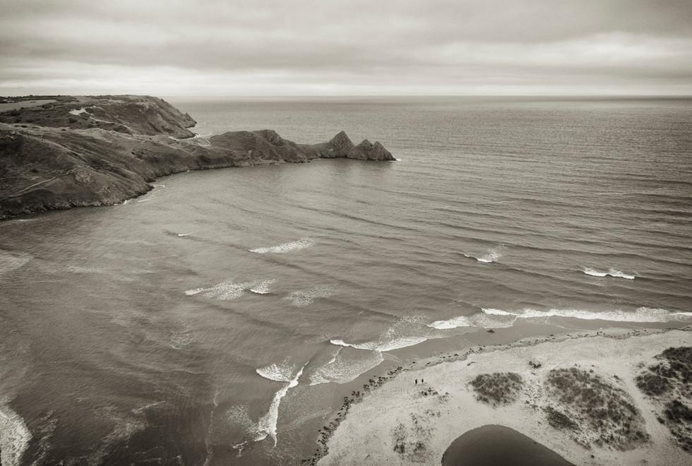 Three Cliffs Bay, spring tide