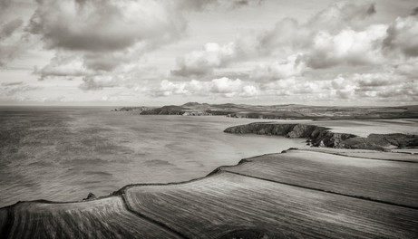 Mathry by air, West Wales