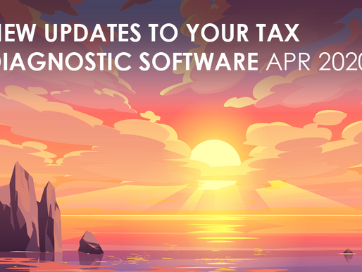 NEW Updates to your tax diagnostic software